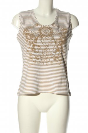 Bianca Tank Top brown-natural white themed print casual look