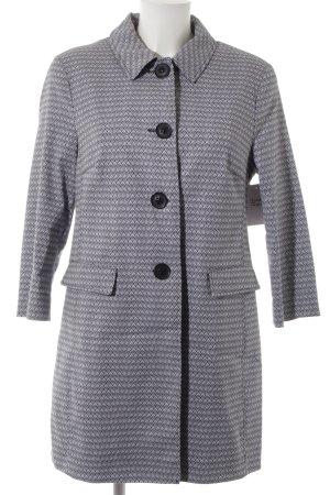 Bianca Between-Seasons-Coat white-blue graphic pattern casual look