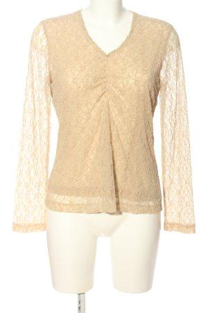 Bianca Blusa de encaje blanco puro Patrón de tejido look casual