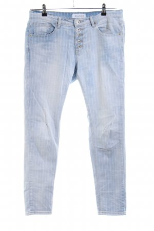 Bianco Baggy Jeans blue striped pattern casual look
