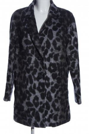 Bianco Floor-Lenght Coat light grey-black allover print casual look