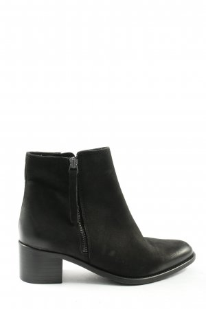 Bianco Booties black leather