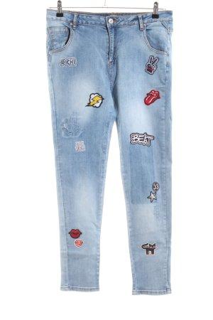 Bianco Boyfriend Jeans blue mixture fibre
