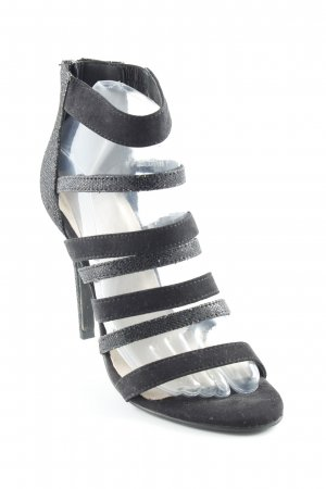 Bianco High Heels schwarz Glitzer-Optik