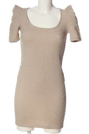 Bianco Robe à manches courtes crème imprimé allover style décontracté