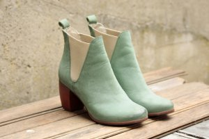 Bianco Booties multicolored leather