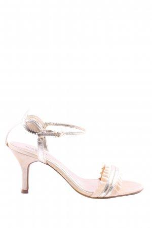 Bianco Strapped High-Heeled Sandals natural white-silver-colored elegant