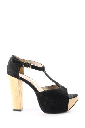 Bianco Platform Sandals black-cream casual look