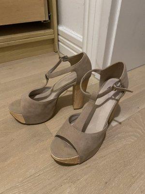 Bianco Platform High-Heeled Sandal multicolored mixture fibre