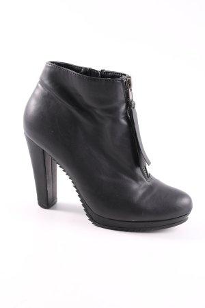 Bianco Platform Booties black elegant