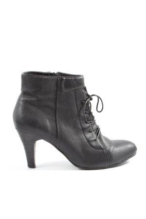 Bianco Reißverschluss-Stiefeletten schwarz Casual-Look