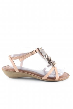 Bianco Strapped Sandals nude casual look