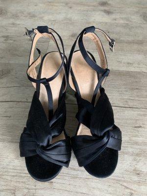 Bianco Platform High-Heeled Sandal dark blue