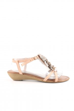 Bianco Strapped High-Heeled Sandals nude-light grey casual look