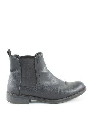Bianco Slip-on Booties black casual look