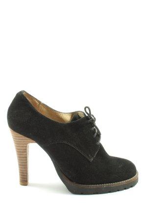 Bianco Sznurowane buty czarny W stylu casual