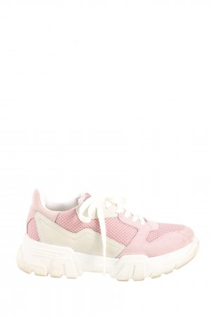 Bianco Lace-Up Sneaker pink-white casual look