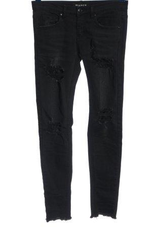 Bianco Jeans coupe-droite noir style décontracté