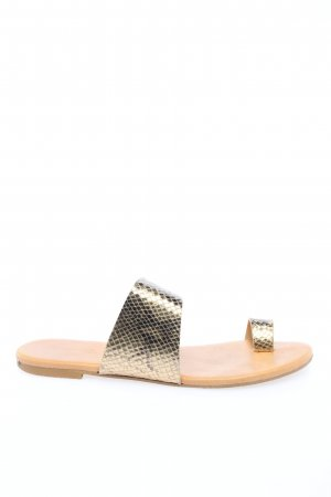 Bianco Toe-Post sandals gold-colored extravagant style