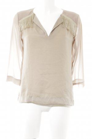 Biancoghiaccio Schlupf-Bluse beige Casual-Look