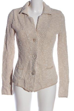 Biaumax Cardigan rose chair-blanc torsades style décontracté