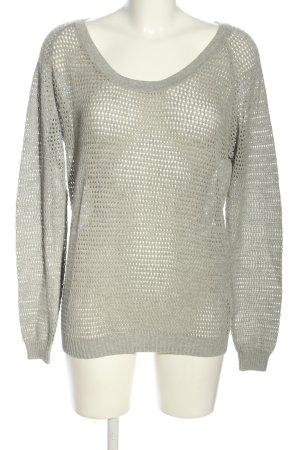 Biaumax Crochet Sweater light grey casual look