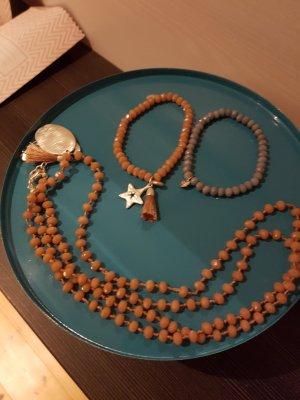 BIBA - 2 Armbänder und eine Kette (rosé und hellblau)
