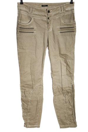 Biba Pantalone a 7/8 bianco sporco stile casual