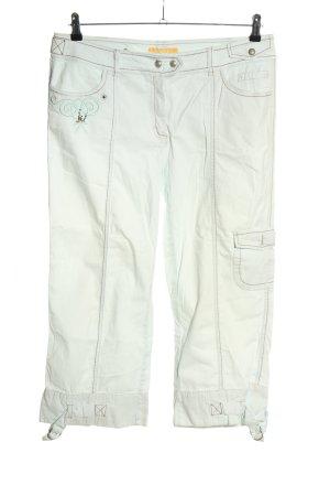 Biba Pantalone a 7/8 bianco stile casual