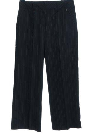 Biba Anzughose weiß-blau Allover-Druck Business-Look