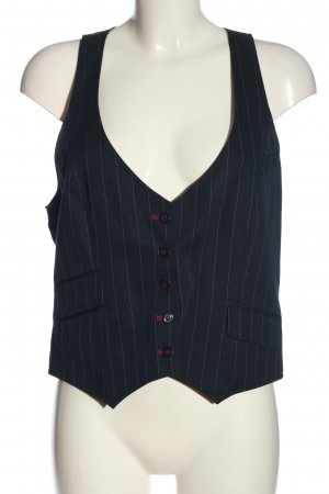 Biba Waistcoat blue-white striped pattern casual look