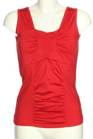Biba Basic topje rood casual uitstraling