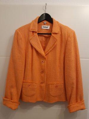 Biba Blazer en tweed orange clair-orange tissu mixte