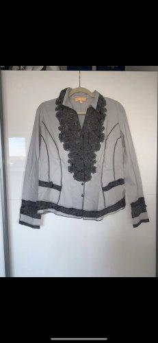 Biba Blouse Shirt grey-black