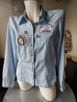 Biba Long Sleeve Blouse white-azure