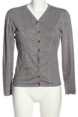 Biba Cardigan grigio chiaro puntinato stile casual