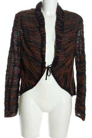 Biba Cardigan nero-marrone stampa integrale stile casual