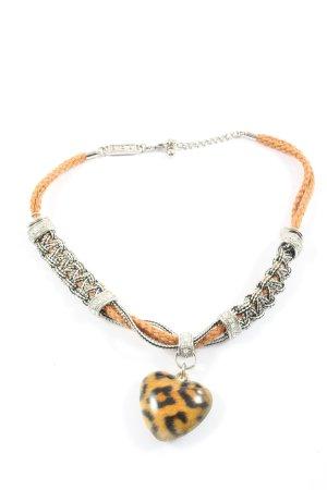 Biba Colliers ras du cou orange clair-argenté style festif