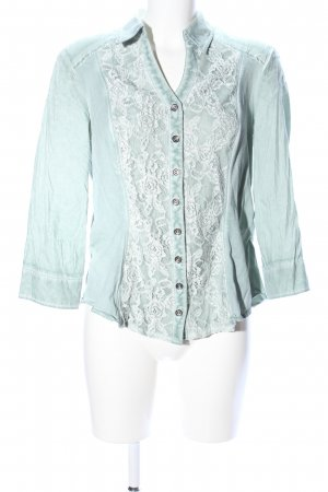 Biba Crash Blouse turquoise-white casual look