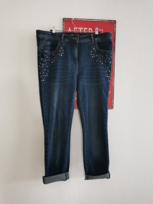 Biba Straight Leg Jeans dark blue cotton