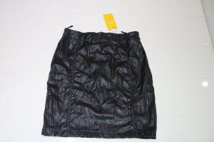 Biba Falda de cuero negro Poliéster