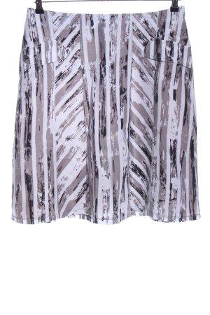 Biba Flared Skirt light grey-white allover print casual look