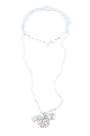 Biba Halskette blau-silberfarben Elegant
