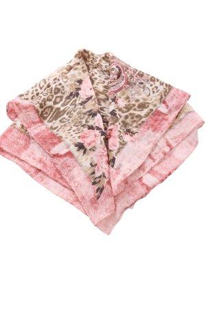 Biba Fazzoletto da collo marrone-rosa motivo floreale stile casual