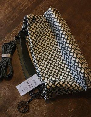 BIBA Handtasche Tasche Flechtoptik grün-weiß neu mit Etikett NP 89,95 €