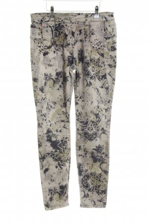 Biba Hoge taille jeans kleurvlekken patroon klassieke stijl