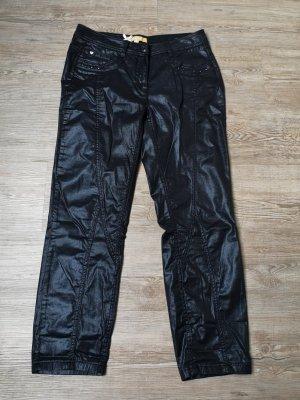 Biba Hose wet look 36 7/8 Länge schwarz glänzend