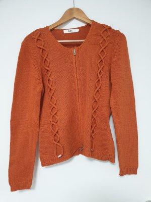 Biba Giacca di lana arancione Tessuto misto