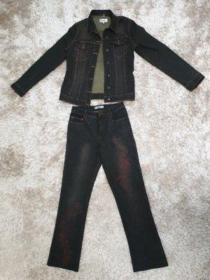 Biba Trouser Suit anthracite mixture fibre