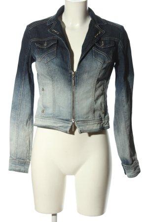 Biba Jeansjacke blau-weiß Farbverlauf Casual-Look